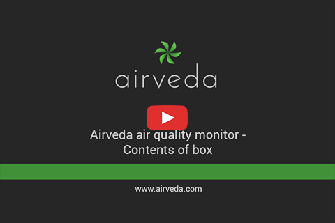 Airveda Air Quality Monitor - Contents of Box