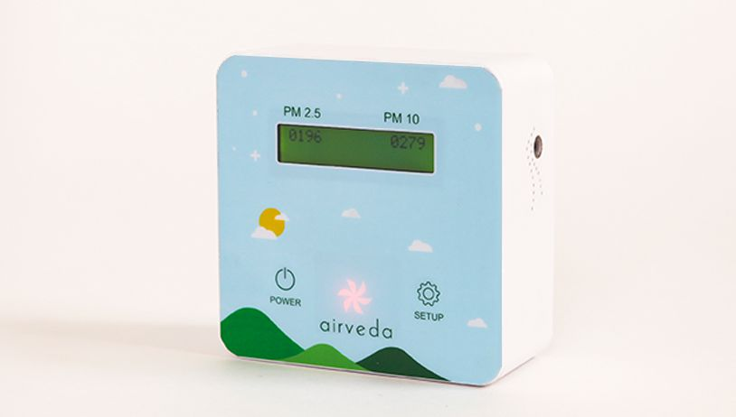 Airveda Advanced High Accuracy PM2 5, PM10 Air Quality Monitor with